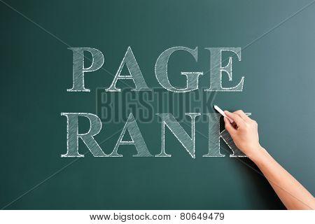 page rank written on blackboard