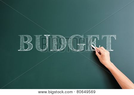 budget written on blackboard