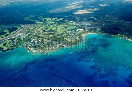 Big Island aerial shot - beach