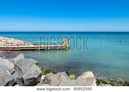 Port On The Baltic Sea Coast
