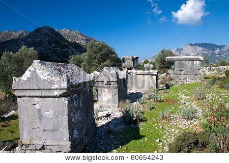 Lycian Tomb In The Village Sdima, Turkey