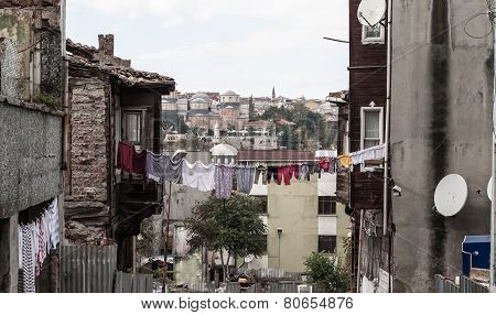 Poor District Fatih In Istanbul, Turkey