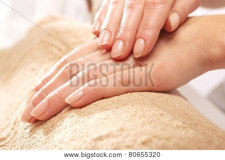 Healthy well groomed nails natural beauty