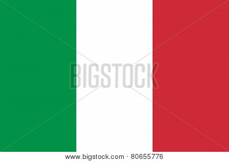 Italy Flag. Original Proportion And Colors. High Quality