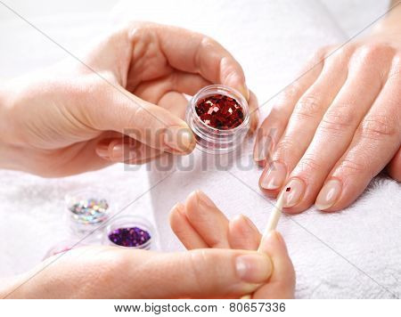 Decorations of nails