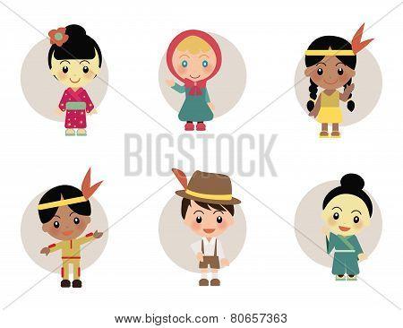 World Kids : Japan Holland Indian