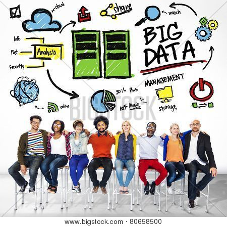 Diversity People Big Data Working Teamwork Friendship Concept