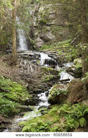 Waterfall Saint Spirit And Spring In Rhodopes Mountain