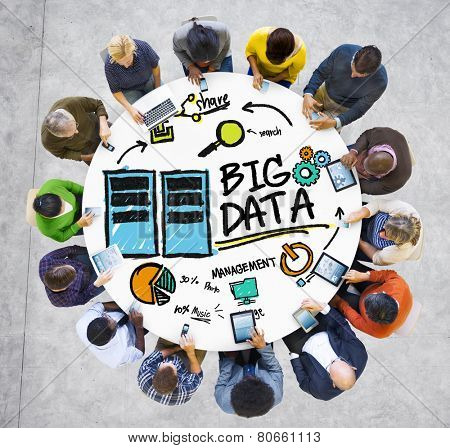 Diversity People Big Data Communication Digital Devices Concept