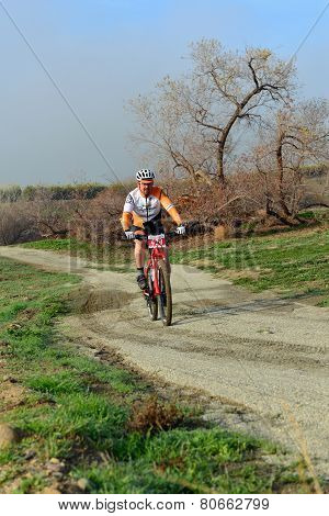 Mountain Biking on Dirt Trail