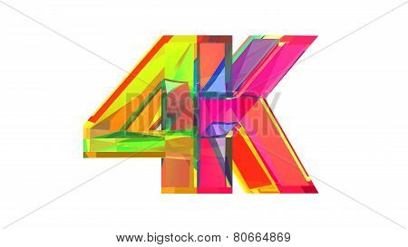 4K Glass Logo