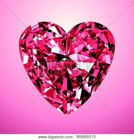 Pink Diamond Heart