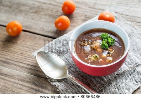 Spicy Tomato Soup With Seafood