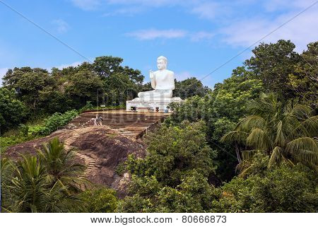 Buddha Statue on Mount Mihintale in Sri Lanka