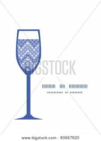 Vector purple drops chevron wine glass silhouette pattern frame