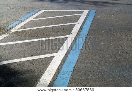 Handicap Parking Space In Lot