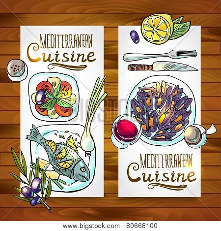 vertical banners mediterranean cuisine