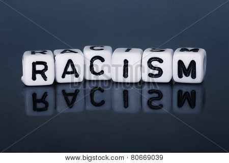 Cube Letters Show Racism