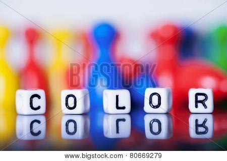 Cube Letters Showing Color