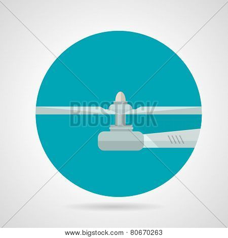 Drone propeller flat vector icon