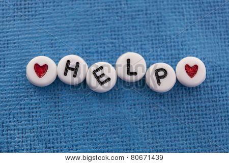 Help spelled in craft beads