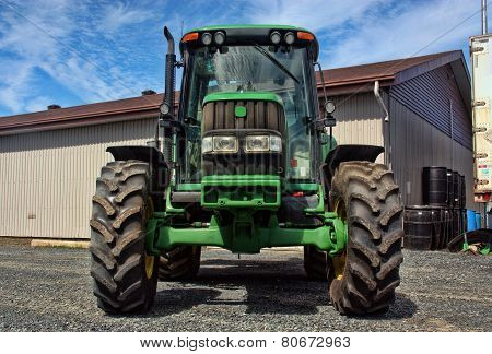 agriculture tractor vehicle front view