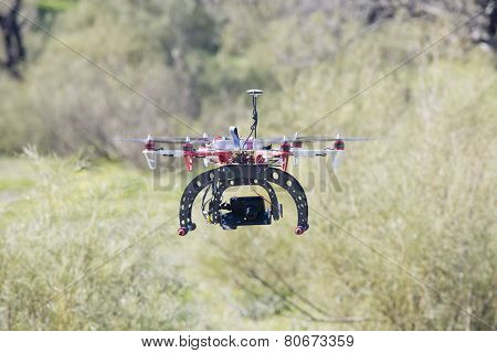Hexacopter Flying