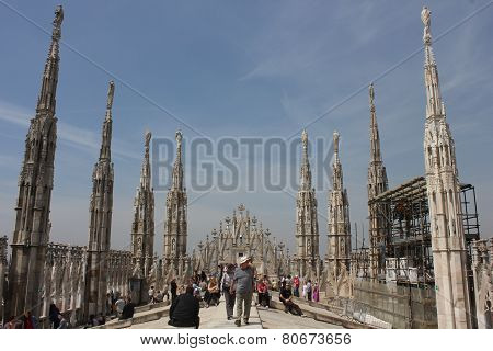 Duomo Cathedral roof In Milan