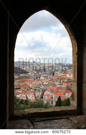 Looking Through Window At Lisbon