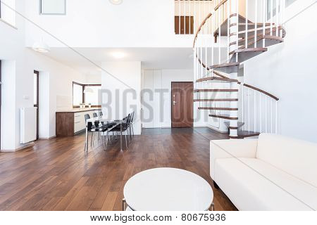 Lounge With Stairs