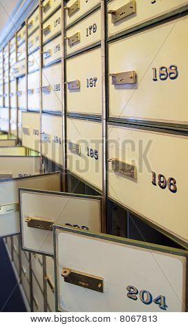 Vintage Safe Deposit Boxes