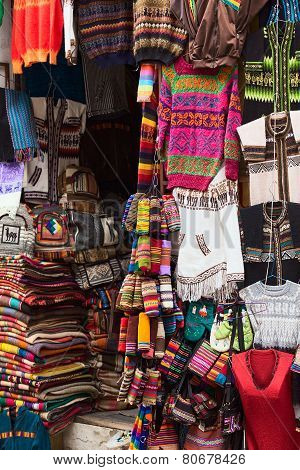 Souvenir and Handicraft Shop in La Paz, Bolivia