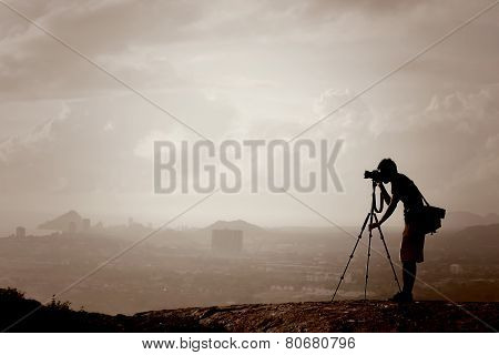 Photographer On The Hill