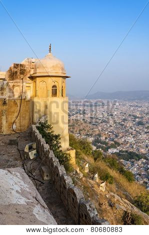 Nahargarh Fort And Wiew To Jaipur City