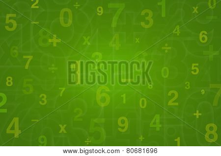 Numbers Design For Mathematics Background