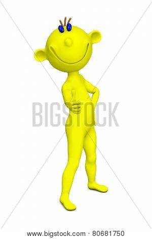 Yellow Person Shows A Positive