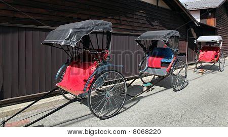 rickshaws - Takayama Japan