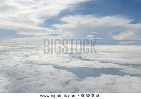 Above The Cloud View From Airplane