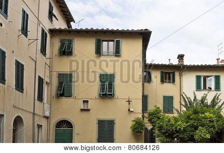Green Window Shutters In Lucca