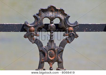 Rusty iron gate (detail)