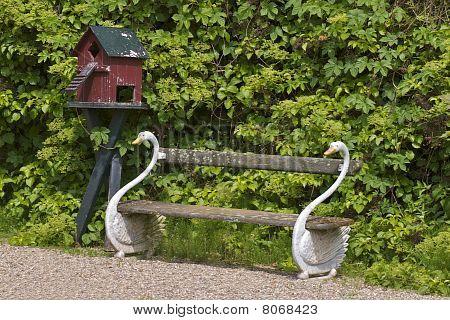 Swan garden bench