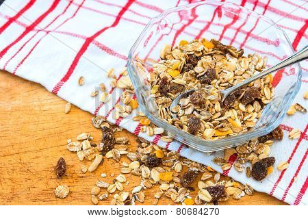 Granola Cereal With Raisins And Nuts