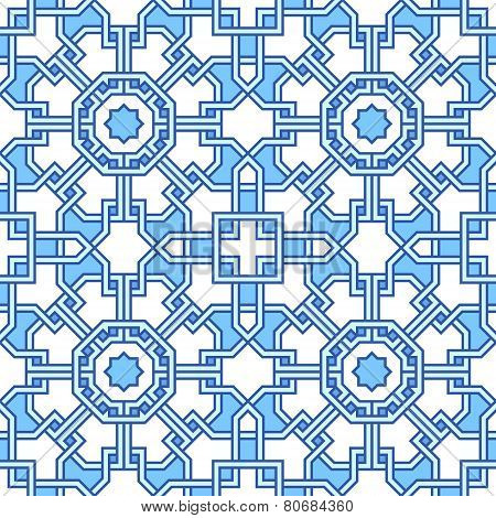 Blue Tangled Labyrinth Pattern