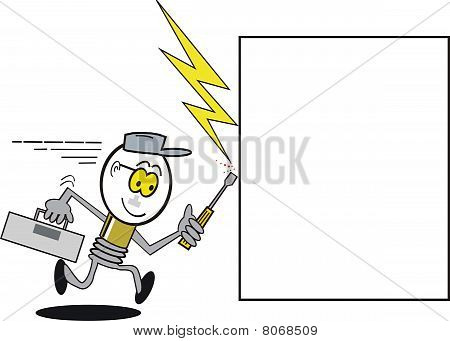Funny electrician cartoon