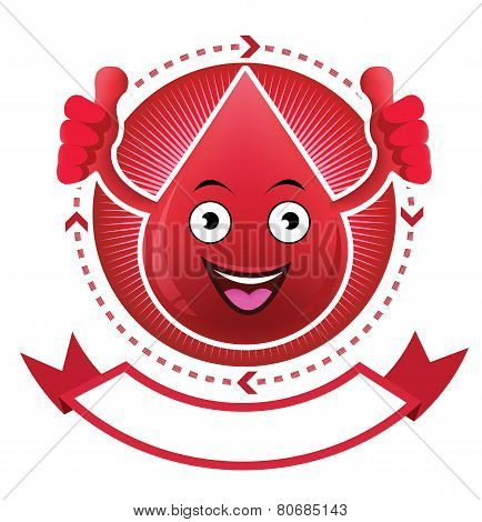 Cartoon smiling blood banner