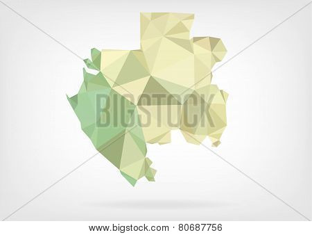 Low Poly map of Gabon