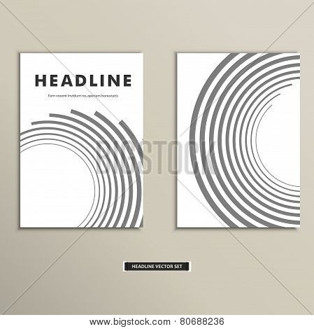 Book cover with abstract lines and twirl