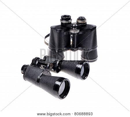 Old vintage binoculars