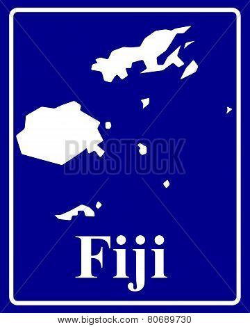 Silhouette Map Of Fiji
