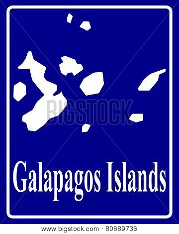 Silhouette Map Of Galapagos Islands